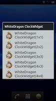 Screenshot of WhiteDragon ClockWidget