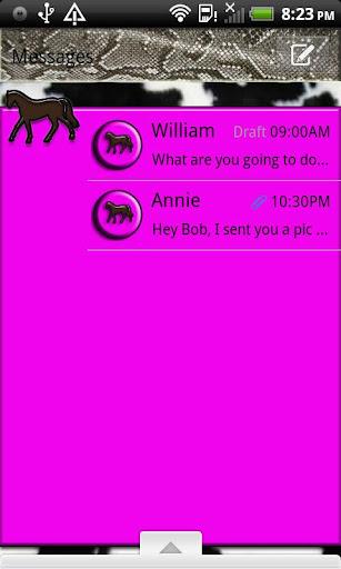 GO SMS THEME ForUCowgirl