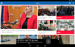 Screenshot of Vijesti