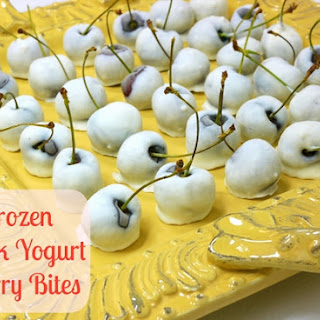 Frozen Greek Yogurt Cherry Bites