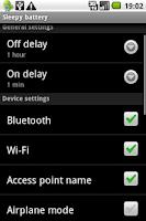 Screenshot of Sleepy Battery demo