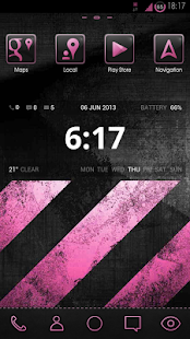 greyPINK HD Launcher Theme - screenshot