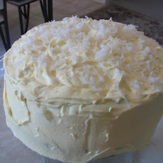 Coconut Layer Cake W/ Cream Cheese Coconut Frosting