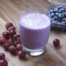 Blueberry Grape Banana Smoothie