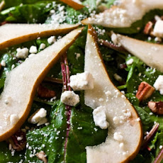 Spinach and Pear Salad with Rosemary Vinaigrette