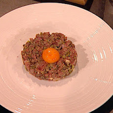 Steak Tartare With Straw Chips