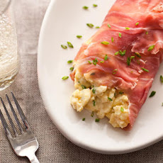 Cream Cheese and Chive Scramble with Prosciutto