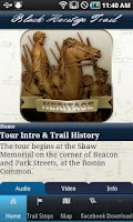 Screenshot of TourBoston'sBlackHeritageTrail