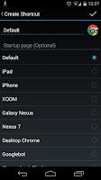 Screenshot of Chrome User Agent Switcher