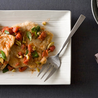 Chicken Scallopini with White-Wine Tomato Sauce