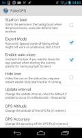 Screenshot of Fake GPS Location Spoofer