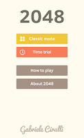 Screenshot of 2048 by Gabriele Cirulli