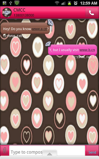 【免費個人化App】GO SMS - Gorgeous Diamonds-APP點子