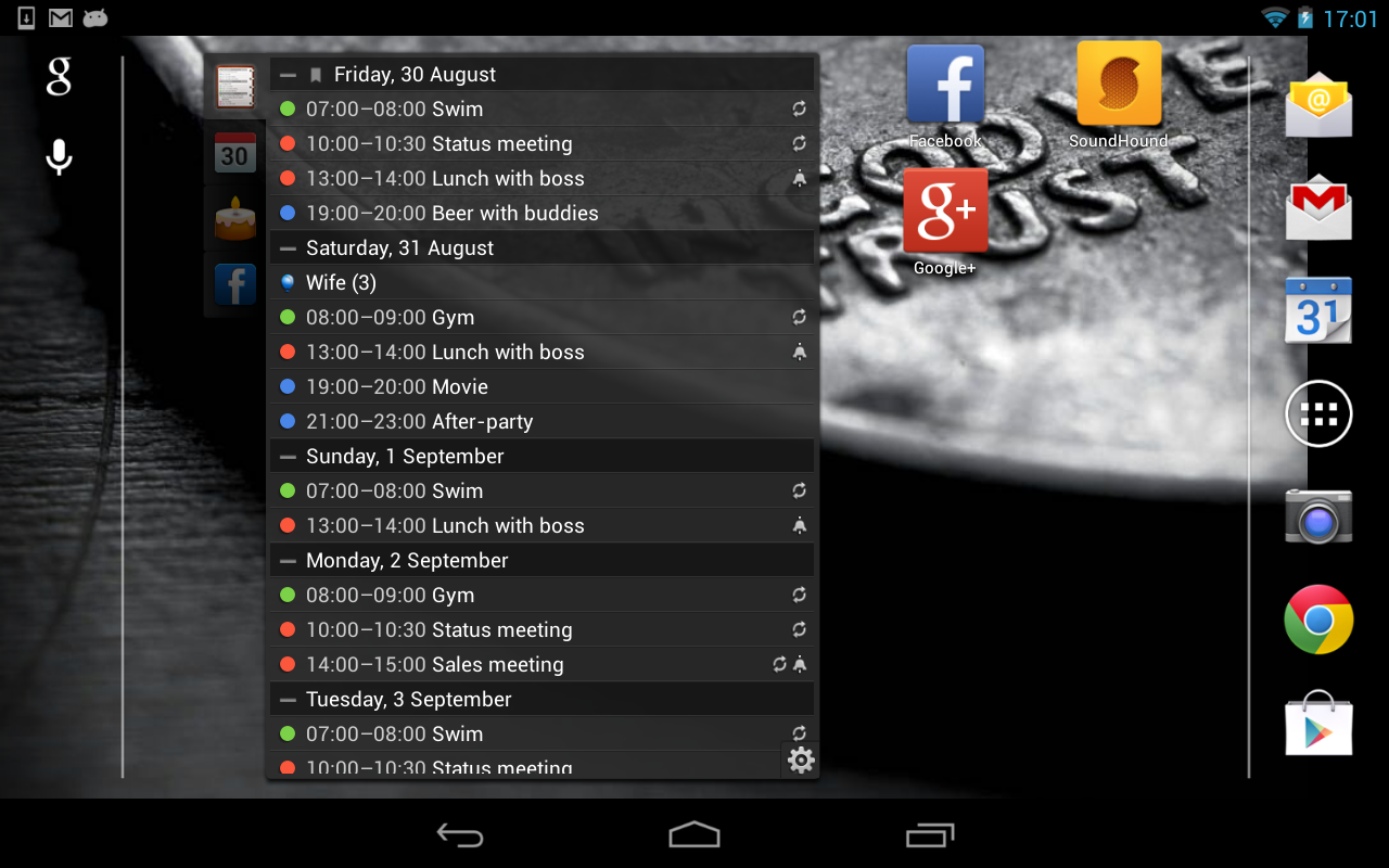 All-in-One Agenda widget Screenshot 12