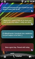 Screenshot of Live Twitter Quotes