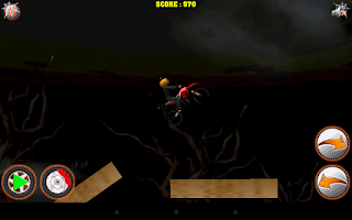 Screenshot of Halloween Bike rider game