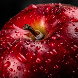 Wet by Troy Wheatley - Food & Drink Fruits & Vegetables ( fruit, red, apple, drops, shine, wet )