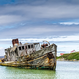 Falklands Island Derelict by Jay Gould - Transportation Boats ( water, derelict boat, falkland islands, boat )