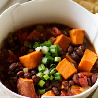 Pretty. Easy. Black Bean and Sweet Potato Chili
