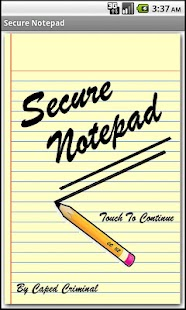 Secure Notepad - screenshot