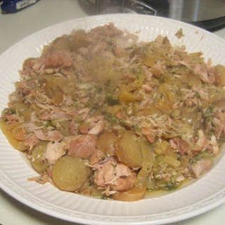 Slow cooked Chicken with Tomatillos