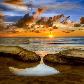 Bertemu akhirnya by Gerard Macorvick - Landscapes Sunsets & Sunrises