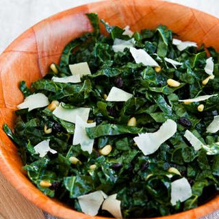 Kale Salad with Pine Nuts, Currants and Parmesan