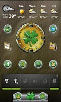 Screenshot of St. Patrick's Day Clock