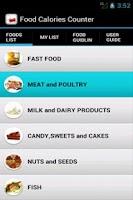 Screenshot of Food Calories Counter