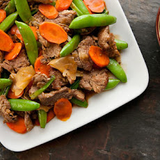 Grace Young's Stir-Fried Ginger Beef with Sugar Snaps and Carrots
