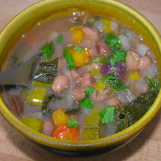 Anasazi bean soup with vegetables