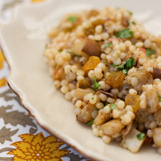 Israeli Couscous with Roasted Eggplant and Cinnamon-Cumin Dressing