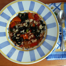 Turkey, Kale, and Brown Rice Soup