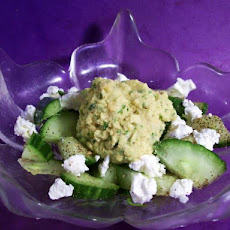 Morocco Meets Greece (Chickpea Cucumber Salad With Feta)