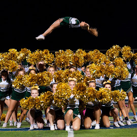 Flying in the back by Kevin Mummau - Sports & Fitness Other Sports ( flight, cheerleading, football, pompom, gymnastics )
