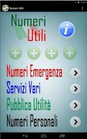 Screenshot of Numeri Utili