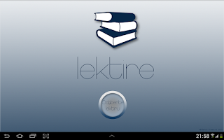 Screenshot of Lektire