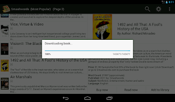 Screenshot of PageTurner eBook Reader