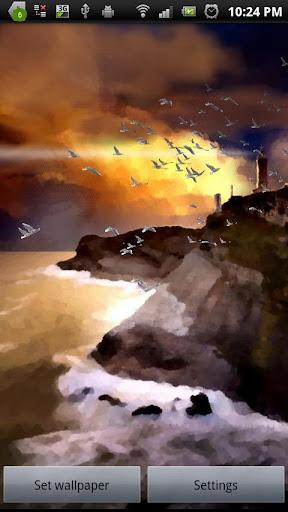 非現実的な海景三次元フリー