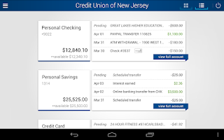 Screenshot of Credit Union of New Jersey