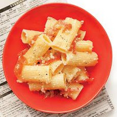 Rigatoni with Prosciutto and Parmesan