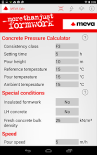 Concrete Pressure Calculator - screenshot