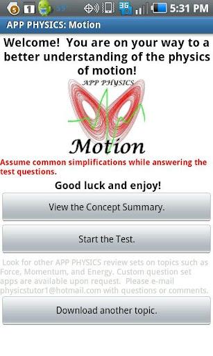 Physics: Motion