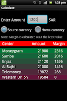 Screenshot of Remittance Rates and Locations