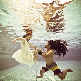 you&me by Dodi Yoga - People Couples ( underwater, prewedding, underwater photography, deemozart )