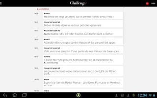 Screenshot of Challenges actu de l'économie