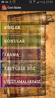Screenshot of Özel Sözler