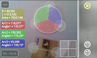 Screenshot of Partometer - camera measure