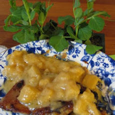 Veal Scaloppine W/Cream, Calvados & Apples (Jacques Pepin)