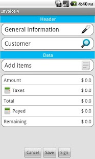 Invoice star - invoicing - screenshot